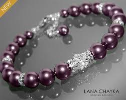 crystal pearl bracelet swarovski images Burgundy pearl bracelet swarovski pearl wedding bracelet wine plum jpg