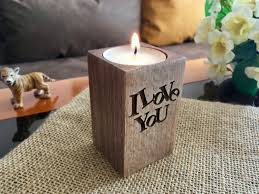 christmas wood candle holders i love you personalized engraved