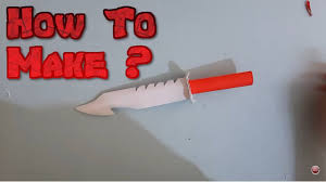 how to make kitchen knives how to make paper knife rambo knife youtube