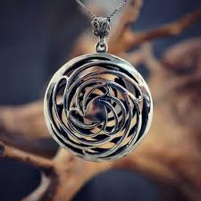 golden ratio dna spiral helix golden mean pendant silver