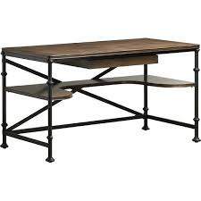 wood and metal writing desk industrial wood computer writing desk
