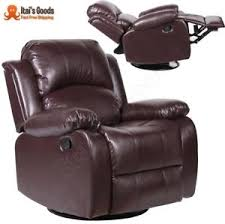 Wing Recliner Chair Leather Rocker Recliner Furniture Ebay
