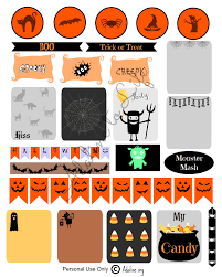 halloween planner stickers and free printables life planner