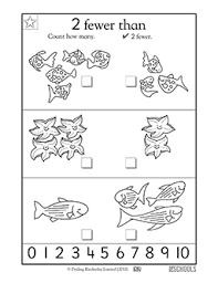 kindergarten math worksheets finding 2 fewer greatschools