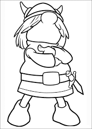 vicky viking coloring pages kids 14