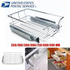 kitchen cabinet pull out storage racks pull out wire basket sliding kitchen rack cabinet storage organizer drawer shelf