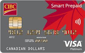 bank prepaid cards cibc smart prepaid visa card prepaid cibc