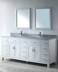 Double Vanity Cabinet Appealing White Double Sink Bathroom Vanity Cabinets Image Of
