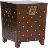 amazon com steamer trunk end table kitchen u0026 dining
