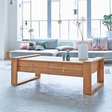 teak coffee table minimalys coffee tables 120x70 at tikamoon