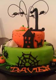 Spider Halloween Cakes by Halloween 1st Birthday Cakecentral Com