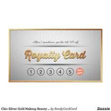 Makeup Hair Salon Modern Chic Purple Gold Makeup Hair Salon Loyalty Business Card