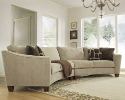 furniture sectional sofa with back rest in white tone with curvy