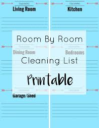easy household cleaning with bona printable cleaning list