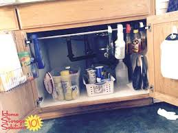 kitchen sink cabinet organizer under sink organization ideas kitchen under sink cabinet fabulous