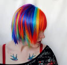 rainbow color hair ideas rainbow wig scene wig gifts for teens blue purple pink yellow