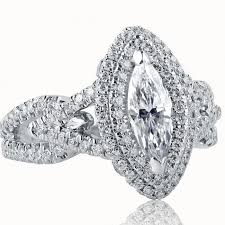 marquise cut diamond ring certified 1 53 tcw marquise cut diamond engagement ring 18k