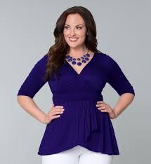 purple blouse plus size faux wrap top curvy me fashion size clothing