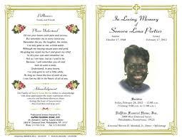 memorial service program template memorial phlet template free