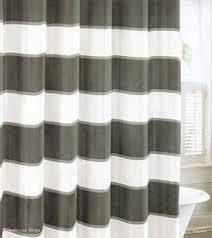 White Cotton Duck Shower Curtain Nautica Cotton Shower Curtain Foter