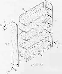 Woodworking Plans Wall Bookcase by How To Build Free Wood Shelf Plans Pdf Shoe Rack Woodworking Plans