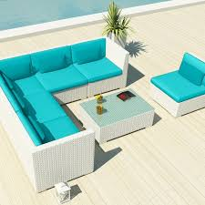 Wicker Sectional Patio Furniture by Amazon Com Uduka Outdoor Sectional Patio Furniture White Wicker