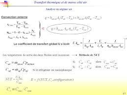 transfert de si e etude du transfert de chaleur et de masse ppt télécharger
