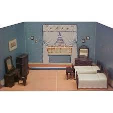 Plastic Bedroom Furniture by Renwal Jolly Twins Plastic Doll House Bedroom Furniture From
