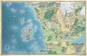 coast map map of faerün dungeons dragons