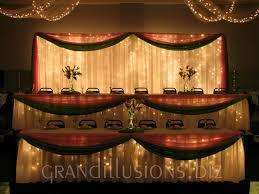 Wedding Head Table Decorations by Wedding Head Table Decorations Ideas Decorated Head Table With