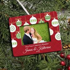 photo frame christmas ornament personalized our first christmas
