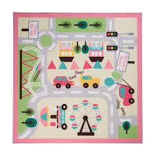 flair rugs matrix kiddy girls town map childrens rug multi 133 x