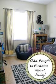 How To Make Curtains Longer Making Curtains Longer Without Sewing Graceful Order