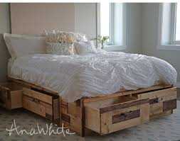 ana white brandy scrap wood storage bed with drawers diy projects