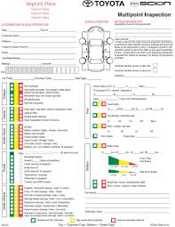 toyota usa customer service toyota multi point inspection form