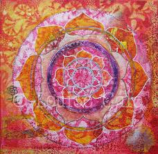 Mandala Paintings Louise Gale Mixed Media Botanical Mandala