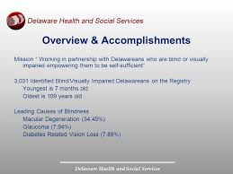 Services For The Blind And Visually Impaired Department Of Health And Social Services Division For The Visually
