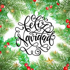 feliz navidad spanish merry christmas holiday hand drawn