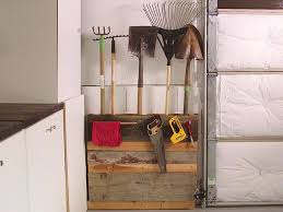 how to upcycle an old pallet into garage storage hgtv attach reclaimed wood