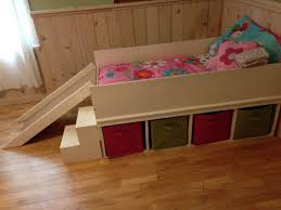 homemade toddler bed diy toddler bed with small slide and toy storage for the home