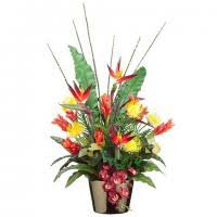 tropical flower arrangements tropical silk flower arrangements artificial tropical flowers