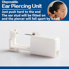 sterilized ear piercing studs 1 units disposable safe sterile unit ear stud nose studs piercing