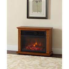 home decorators hampton bay hampton bay cedarstone 29 in 3 element mantel infrared electric