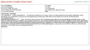 district attorney investigator cover letters