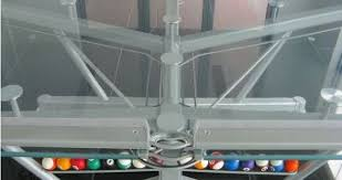 the glass pool table to see what billiards was about