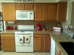 kitchens with oak cabinets and white appliances cabinet colors