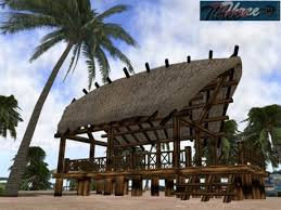 Tiki Hut Paradise Second Life Marketplace 333 Tropical Hut Tiki Big Paradise