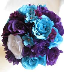 blue and purple flowers amazing blue and purple wedding flowers purple flowers silk