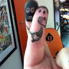 funny finger tattoo idea tattoo shortlist