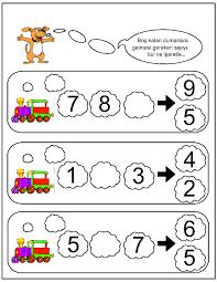 missing number worksheet for kids 20 october preschool